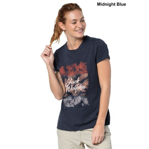 Jack Wolfskin Womens Royal Palm T-Shirt - Organic Cotton Tee